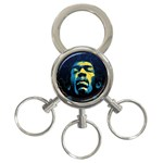Gabz Jimi Hendrix Voodoo Child Poster Release From Dark Hall Mansion 3-Ring Key Chains