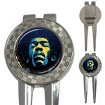Gabz Jimi Hendrix Voodoo Child Poster Release From Dark Hall Mansion 3-in-1 Golf Divots