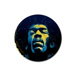Gabz Jimi Hendrix Voodoo Child Poster Release From Dark Hall Mansion Rubber Round Coaster (4 pack)