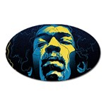 Gabz Jimi Hendrix Voodoo Child Poster Release From Dark Hall Mansion Oval Magnet
