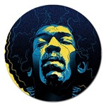 Gabz Jimi Hendrix Voodoo Child Poster Release From Dark Hall Mansion Magnet 5  (Round)