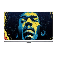 Gabz Jimi Hendrix Voodoo Child Poster Release From Dark Hall Mansion Business Card Holders by Onesevenart