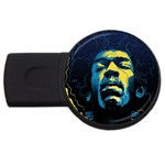 Gabz Jimi Hendrix Voodoo Child Poster Release From Dark Hall Mansion USB Flash Drive Round (2 GB)