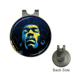 Gabz Jimi Hendrix Voodoo Child Poster Release From Dark Hall Mansion Hat Clips With Golf Markers by Onesevenart