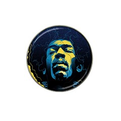 Gabz Jimi Hendrix Voodoo Child Poster Release From Dark Hall Mansion Hat Clip Ball Marker (4 Pack) by Onesevenart