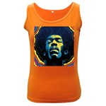 Gabz Jimi Hendrix Voodoo Child Poster Release From Dark Hall Mansion Women s Dark Tank Top