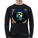 Gabz Jimi Hendrix Voodoo Child Poster Release From Dark Hall Mansion Long Sleeve Dark T-Shirts