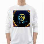 Gabz Jimi Hendrix Voodoo Child Poster Release From Dark Hall Mansion White Long Sleeve T-Shirts