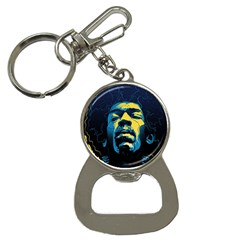 Gabz Jimi Hendrix Voodoo Child Poster Release From Dark Hall Mansion Bottle Opener Key Chains by Onesevenart