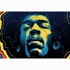 Gabz Jimi Hendrix Voodoo Child Poster Release From Dark Hall Mansion Collage Prints by Onesevenart