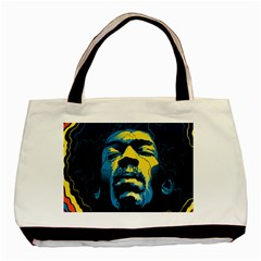 Gabz Jimi Hendrix Voodoo Child Poster Release From Dark Hall Mansion Basic Tote Bag by Onesevenart