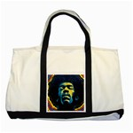 Gabz Jimi Hendrix Voodoo Child Poster Release From Dark Hall Mansion Two Tone Tote Bag