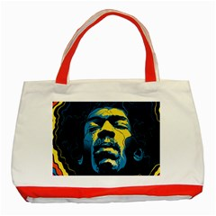 Gabz Jimi Hendrix Voodoo Child Poster Release From Dark Hall Mansion Classic Tote Bag (red) by Onesevenart