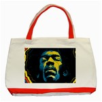 Gabz Jimi Hendrix Voodoo Child Poster Release From Dark Hall Mansion Classic Tote Bag (Red)