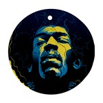 Gabz Jimi Hendrix Voodoo Child Poster Release From Dark Hall Mansion Round Ornament (Two Sides)