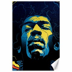 Gabz Jimi Hendrix Voodoo Child Poster Release From Dark Hall Mansion Canvas 12  X 18   by Onesevenart