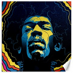 Gabz Jimi Hendrix Voodoo Child Poster Release From Dark Hall Mansion Canvas 16  X 16   by Onesevenart