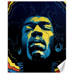 Gabz Jimi Hendrix Voodoo Child Poster Release From Dark Hall Mansion Canvas 16  X 20   by Onesevenart