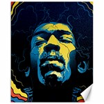 Gabz Jimi Hendrix Voodoo Child Poster Release From Dark Hall Mansion Canvas 16  x 20