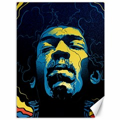 Gabz Jimi Hendrix Voodoo Child Poster Release From Dark Hall Mansion Canvas 36  X 48   by Onesevenart