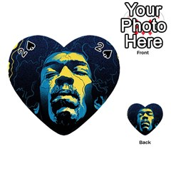 Gabz Jimi Hendrix Voodoo Child Poster Release From Dark Hall Mansion Playing Cards 54 (heart)  by Onesevenart