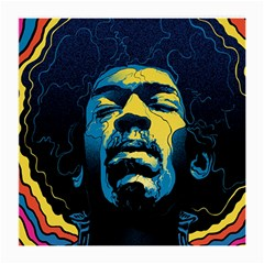 Gabz Jimi Hendrix Voodoo Child Poster Release From Dark Hall Mansion Medium Glasses Cloth (2 Side) by Onesevenart