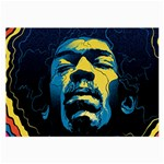 Gabz Jimi Hendrix Voodoo Child Poster Release From Dark Hall Mansion Large Glasses Cloth (2-Side)