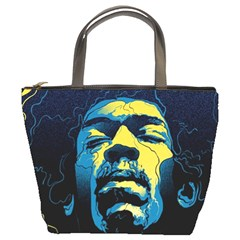 Gabz Jimi Hendrix Voodoo Child Poster Release From Dark Hall Mansion Bucket Bags by Onesevenart