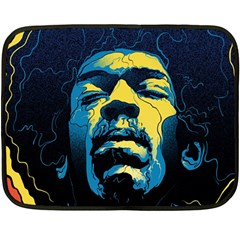 Gabz Jimi Hendrix Voodoo Child Poster Release From Dark Hall Mansion Fleece Blanket (mini) by Onesevenart