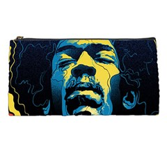 Gabz Jimi Hendrix Voodoo Child Poster Release From Dark Hall Mansion Pencil Cases by Onesevenart