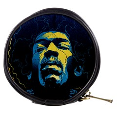 Gabz Jimi Hendrix Voodoo Child Poster Release From Dark Hall Mansion Mini Makeup Bags by Onesevenart