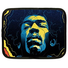 Gabz Jimi Hendrix Voodoo Child Poster Release From Dark Hall Mansion Netbook Case (xl)  by Onesevenart