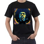 Gabz Jimi Hendrix Voodoo Child Poster Release From Dark Hall Mansion Men s T-Shirt (Black)
