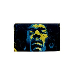 Gabz Jimi Hendrix Voodoo Child Poster Release From Dark Hall Mansion Cosmetic Bag (small)  by Onesevenart