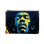 Gabz Jimi Hendrix Voodoo Child Poster Release From Dark Hall Mansion Cosmetic Bag (Large)