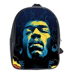 Gabz Jimi Hendrix Voodoo Child Poster Release From Dark Hall Mansion School Bags(Large)