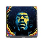 Gabz Jimi Hendrix Voodoo Child Poster Release From Dark Hall Mansion Memory Card Reader (Square)