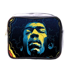 Gabz Jimi Hendrix Voodoo Child Poster Release From Dark Hall Mansion Mini Toiletries Bags by Onesevenart