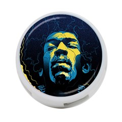 Gabz Jimi Hendrix Voodoo Child Poster Release From Dark Hall Mansion 4 Port Usb Hub (one Side) by Onesevenart