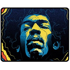 Gabz Jimi Hendrix Voodoo Child Poster Release From Dark Hall Mansion Fleece Blanket (medium)  by Onesevenart