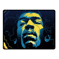 Gabz Jimi Hendrix Voodoo Child Poster Release From Dark Hall Mansion Fleece Blanket (small) by Onesevenart