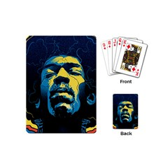 Gabz Jimi Hendrix Voodoo Child Poster Release From Dark Hall Mansion Playing Cards (mini)  by Onesevenart