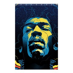 Gabz Jimi Hendrix Voodoo Child Poster Release From Dark Hall Mansion Shower Curtain 48  X 72  (small)  by Onesevenart