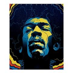 Gabz Jimi Hendrix Voodoo Child Poster Release From Dark Hall Mansion Shower Curtain 60  X 72  (medium)  by Onesevenart