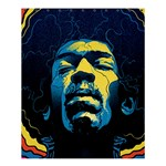 Gabz Jimi Hendrix Voodoo Child Poster Release From Dark Hall Mansion Shower Curtain 60  x 72  (Medium)