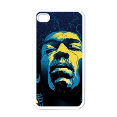 Gabz Jimi Hendrix Voodoo Child Poster Release From Dark Hall Mansion Apple Iphone 4 Case (white) by Onesevenart
