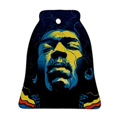 Gabz Jimi Hendrix Voodoo Child Poster Release From Dark Hall Mansion Ornament (bell)  by Onesevenart