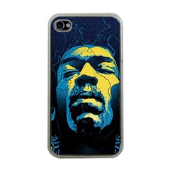 Gabz Jimi Hendrix Voodoo Child Poster Release From Dark Hall Mansion Apple Iphone 4 Case (clear) by Onesevenart