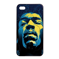 Gabz Jimi Hendrix Voodoo Child Poster Release From Dark Hall Mansion Apple Iphone 4/4s Seamless Case (black) by Onesevenart