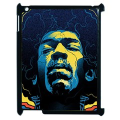 Gabz Jimi Hendrix Voodoo Child Poster Release From Dark Hall Mansion Apple Ipad 2 Case (black) by Onesevenart